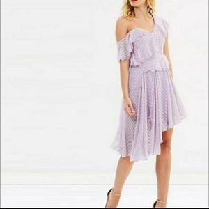 NWT Bardot Lilac one shoulder Dress Size 8